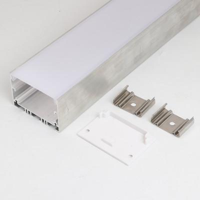 Светодиодный подвесной (LED) профиль анодированный с экраном 50х35мм