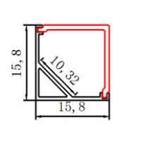 Профиль V-образный угловой PXG-1616-M-90 (квадратный расcеиватель)