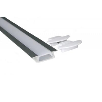 Светодиодный встраиваемый (LED) профиль анодированный с экраном 21х7мм Паз-16х5,5мм