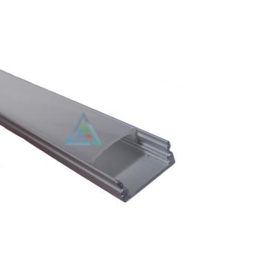 Светодиодный (LED) профиль анодированный с экраном 17х7мм