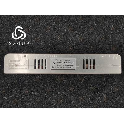 Блок питания WСТ-200-12 Slim (12В, 16.7А, 200Вт) IP20