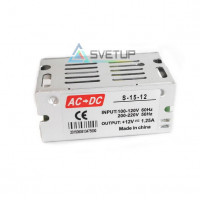 Блок питания  S-15W-12 (12В, 1.25А, 15Вт) IP20