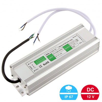 Блок питания 12V150W (12В, 12.5А, 150Вт) IP67
