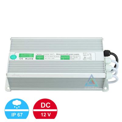 Блок питания 12V200W (12В, 16.6А, 200Вт) IP67