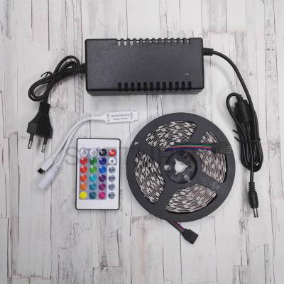 Комплект светодиодной ленты RGB SMD 5050, 60 led/m - 5м