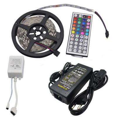 Комплект светодиодной ленты RGB SMD 5050, 30 led/m - 5м