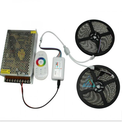 Комплект светодиодной ленты RGB SMD 5050 60 led/m - 10м