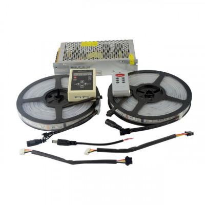 Комплект управляемой светодиодной ленты SPI WS2811 SMD 5050 RGB (Многоцветная) 30 led/m - 10м