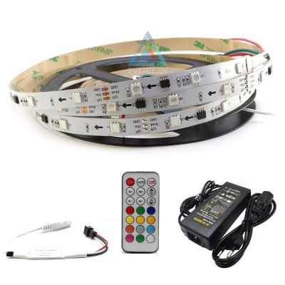 Комплект управляемой светодиодной ленты SPI WS2811 SMD 5050, RGB (Многоцветная) 30 led/m - 5м