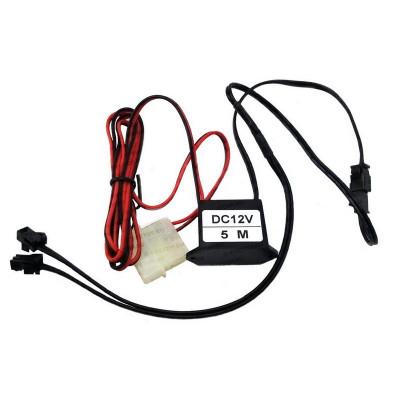 EL инвертор  для холодного неона с разветвителем и коннектором к БП 12В до 5 метров