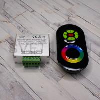 RGB контроллер с радио пультом 5 кнопок 12-24В 18А