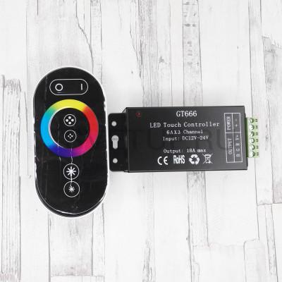 RGB контроллер с сенсорным пультом GT666
