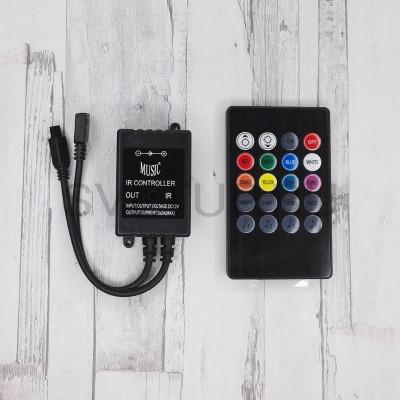 RGB контроллер звукоактивный 12В 6А