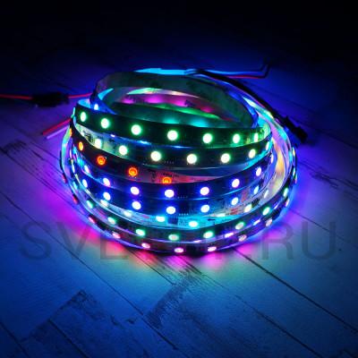 SPI Светодиодная лента WS2811 SMD 5050 RGB (Многоцветная) 60 led/m12V IP33 (Открытая)