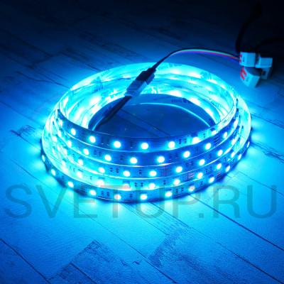 Светодиодная лента SMD 5050 RGB (Многоцветная) 60 led/m 24V IP33