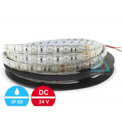 Светодиодная лента SMD 5050 60 led/m 24V IP65 (Влагозащищённая)