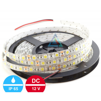 Светодиодная лента SMD 5050 60 led/m 12V IP65 (Влагозащищённая)