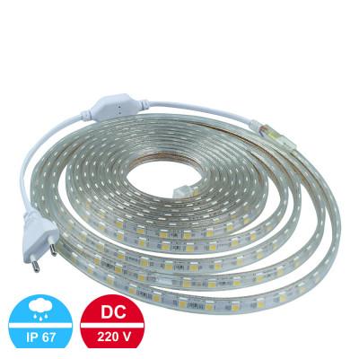 Светодиодная лента 3528 60led/m SMD 220V IP67