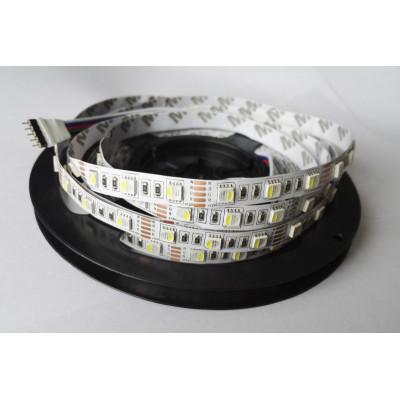 Светодиодная лента SMD 5050 RGBW 4 в 1 (Многоцветная+Белый) 60 led/m 12V IP33 (Открытая)