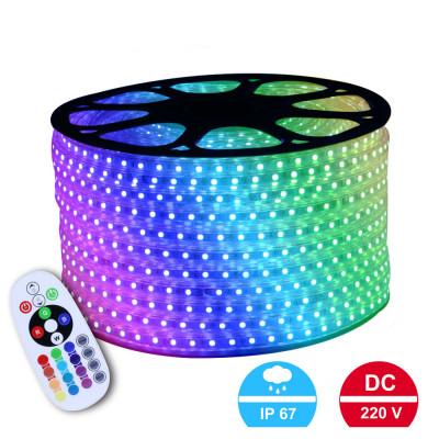 Светодиодная лента RGB 5050 60led/m SMD 220V IP67