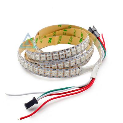 SPI Светодиодная лента WS2812B SMD 5050 RGB 144 led/m 5V IP20 (IP33) (Открытая)