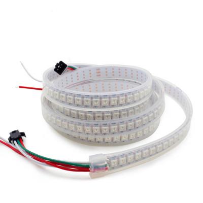 SPI Светодиодная лента WS2812B SMD 5050 RGB 144 led/m 5V IP67 (Защита от воды)