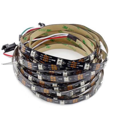 SPI Светодиодная лента WS2812B SMD 5050 RGB 30 led/m 5V IP20 (IP33) (Открытая)