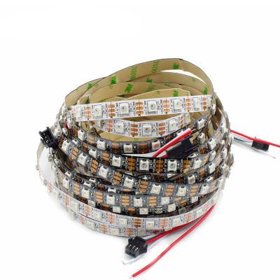 SPI Светодиодная лента WS2812B SMD 5050 RGB 60 led/m 5V IP20 (IP33) (Открытая)