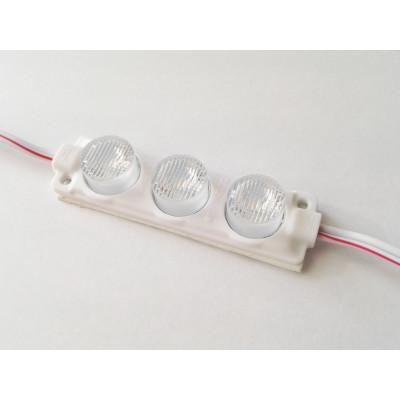 Светодиодный модуль торцевой подсветки SMD3030 x 3 Линза 12V 3W IP67