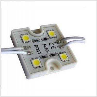 Светодиодный модуль (Кластер) SMD5050 x 4, 12 V, IP65, 36x36mm